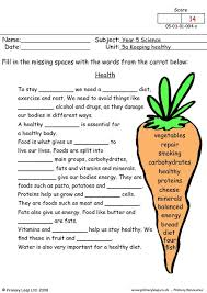primaryleap co uk health worksheet