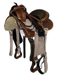 horse saddle western barrel saddle pkg carved eco nat tan zebra print hair on