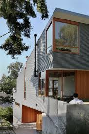 modular homes seattle corrugated steel house with warm wood details throughout seattle