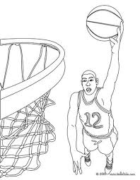 basketball player dunking coloring pages hellokids