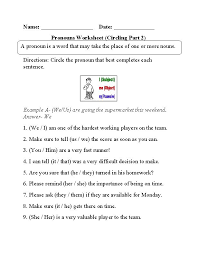 best pronouns images on pinterest  homeschool literacy and  with circling pronouns worksheet part  from pinterestcouk