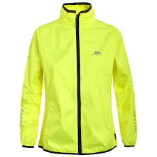 waterproof cycling coat trespass hybrid womens windproof hi viz cycling coat ladies