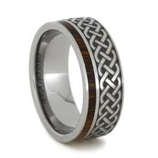 can titanium rings be engraved celtic eternity band engraved titanium ring with ironwood
