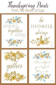 free printable thanksgiving prints the birch cottage