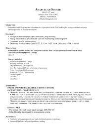 Sample Resume For Experienced Net Developer Asp Net Developer Resume Sample Doc Eliolera Com