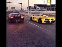enzo vs lamborghini aventador lamborghini sesto elemento vs laferrari in qatar highway