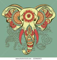 vector indian decorative elephant on henna stock vector 223692172