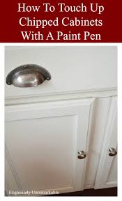 cabinet touch up paint how to touch up chipped cabinets with a paint pen exquisitely