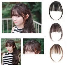 clip snip hair styles thin neat air bangs hair extension clip in korean natural fringe