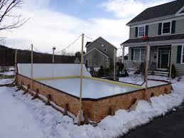 Backyard Hockey Rink by Backyard Hockey Rink Boards Backyard Rink Backyard Picture Home
