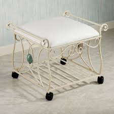 Antique Vanity Chairs Bathroom Alluring Vintage Vanity Chair In Gold Iron Stained And