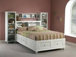 Plans For Platform Bed With Headboard by Full Storage Bed With Bookcase Headboard U2013 Robys Co