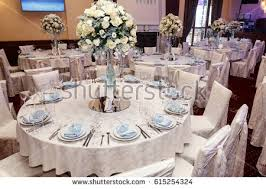 Expensive Vases Luxury Wedding Decor Flowers Glass Vases Stock Photo 615254324