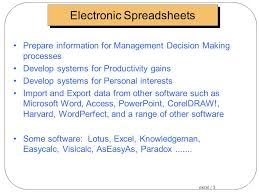 excel 1 electronic spreadsheets what is an electronic