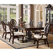 dining room sets for 8 amazon com 7pc formal dining table chairs set with claw design