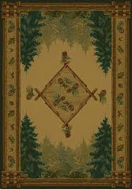 Lodge Style Area Rugs United Weavers Area Rugs Genesis Rug 130 51043 Forest Trail