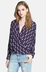 pleione blouse pleione faux wrap blouse fuschia black polka dot medium where to
