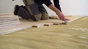 Installing Wood Laminate Flooring Man Installing Laminate Flooring Stock Footage Video 993559