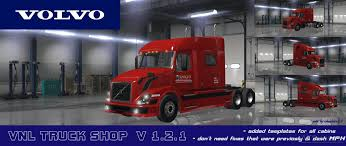 volvo vnl truck shop v1 2 1 american truck simulator mods