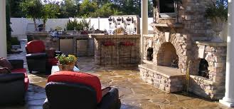 Outdoor Kitchen And Fireplace Designs Fireplace Outdoor Kitchen Design With Isokern Fireplaces And