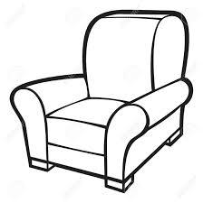 drawn sofa single seat pencil and in color drawn sofa single seat