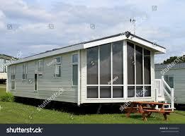 Mobile House Exterior Modern Caravan Trailer Mobile Home Stock Photo 109402607