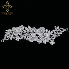 wedding hair combs treazy floral bridal hair combs wedding tiara silver