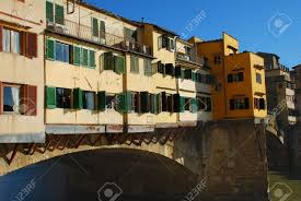 the famous ponte vecchio bridge in florence italy lined with