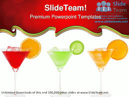 colorful cocktails food powerpoint templates themes and