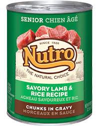 lamb recipe canned senior dog food nutro