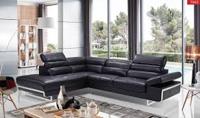 Left Facing Sectional Sofa by 2347 Leather Sectional Sofa In Black Free Shipping Get Furniture