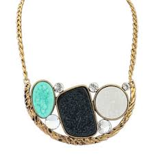 resin chain necklace images Buy fashion luxury brand chunky silver and gold chain necklace jpg