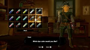 how to dye your clothes and armor in breath of the wild polygon