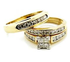 wedding rings trio sets for cheap wedding rings trio wedding ring sets white gold bridal set trio