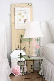 shabby chic wall decor bedroom rustic with bedside table bedskirt
