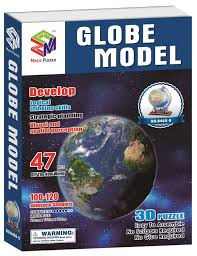 World Map Puzzles by 2017 3d Paper Globeglobo Terrestre Puzzle Terraqueo Children