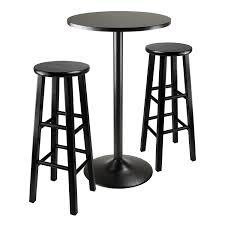 amazon com winsome obsidian pub table set kitchen u0026 dining
