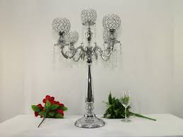 74cm h wedding crystal table centerpiece crystal chandelier candle holder wedding decoration banquet supply in candle holders from home garden on