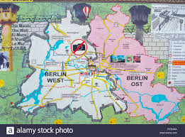 berlin germany world map map of east and west berlin germany stock photo royalty free