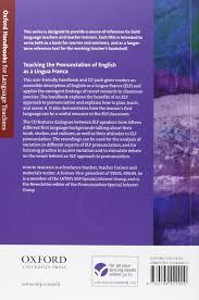 Diy Pronunciation Teaching The Pronunciation Of English As A Lingua Franca A User
