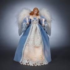 angel christmas tree topper 14 in pre lit blue and white angel tree topper christmas