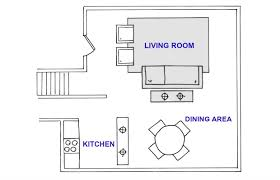 How To Draw A House Floor Plan Open Floor Plan Layout Ideas Great Room Decorating Tips