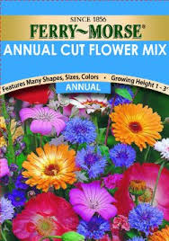 flower seed packets buy ferry morse annual flower seeds 1009 annual cut flower mixture