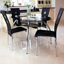 glass dining room table and chairs black leather and metal dining chairs u2013 apoemforeveryday com