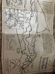 Map Of Letchworth State Park by 1959 Vintage Letchworth State Park New York Map Grand Canyon Of