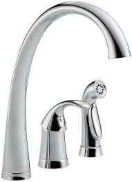delta faucet 4380 dst pilar single handle kitchen faucet with delta faucet 4380 dst pilar single handle kitchen faucet with spray chrome touch on kitchen sink faucets amazon com