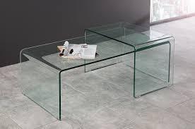 tableau verre transparent pour ecrire table basse design avec 1 table d u0027appoint en verre transparent