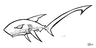 pelagic thresher shark drawing by joehavasy on etsy clip art library
