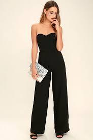 strapless jumpsuit black chic black jumpsuit wide leg jumpsuit strapless jumpsuit 74 00