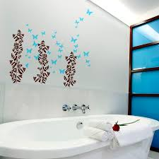 17 decorative bathroom wall decals keribrownhomes bathroom bathroom flower wall decals design with trees and butterflys stickers on the white wall
